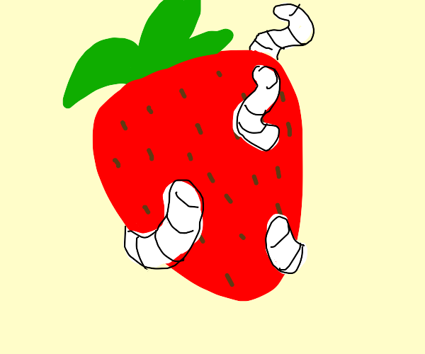 Strawberry With Parasites