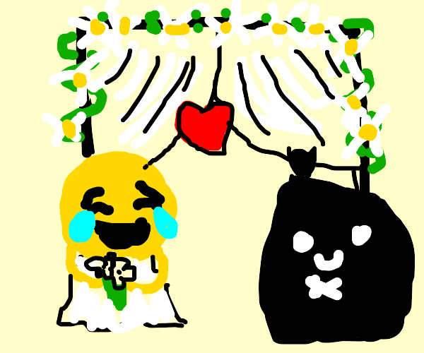 Emoji and Garbage Man Wedding