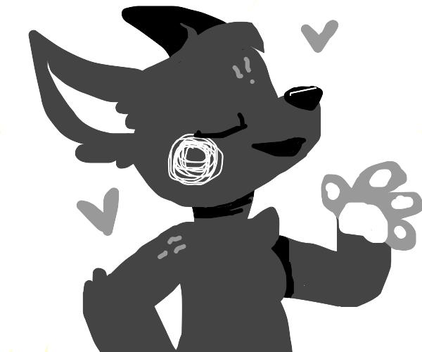 Grey furry