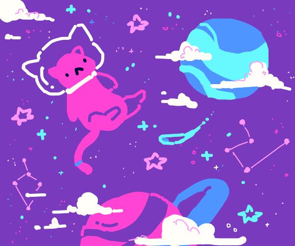 Pinkitty astronaut
