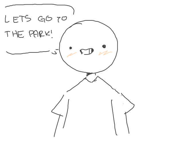 boy wants to go to park