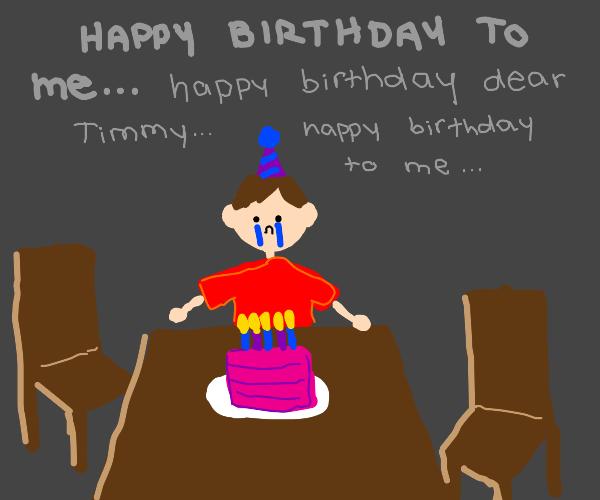 Somewhat depressing birthday party