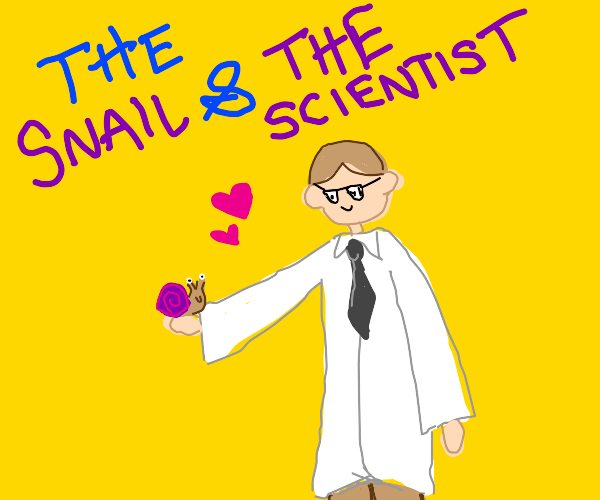 Scientist has a Snail Friend
