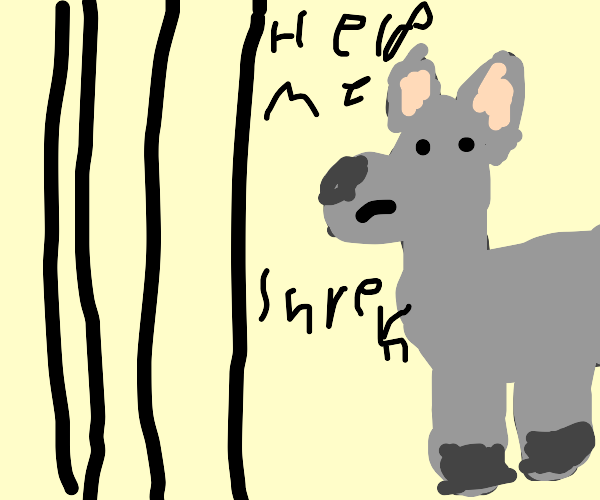 Donkey in prison