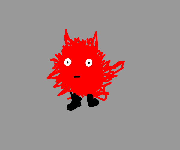 red puffball man