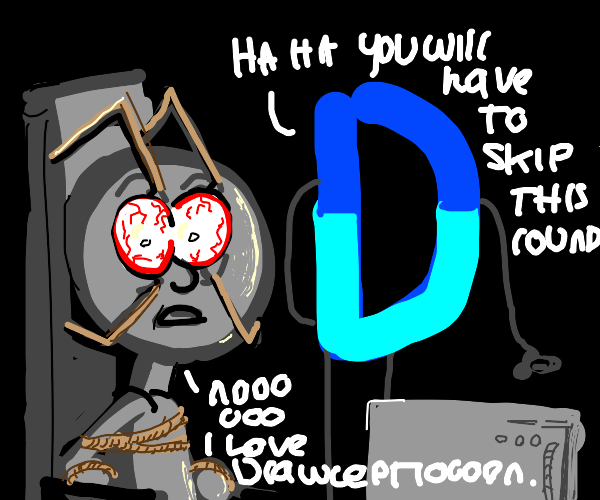 drawception enthusiast forced to skip a game