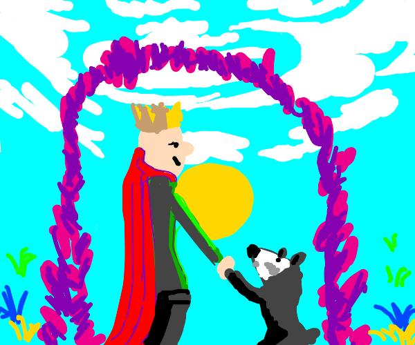 king marries raccoon
