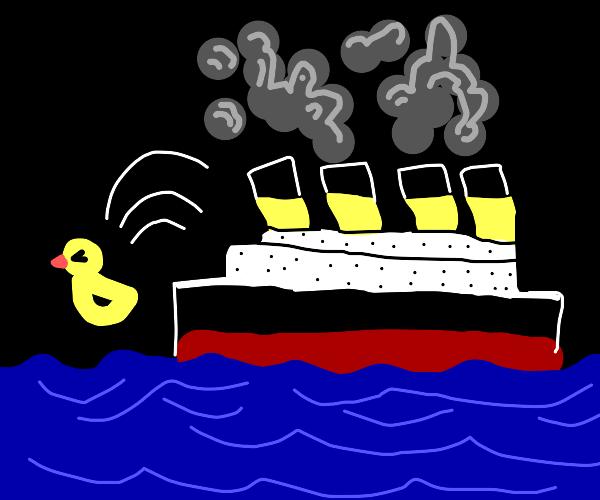 A Duck Escapes Titanic