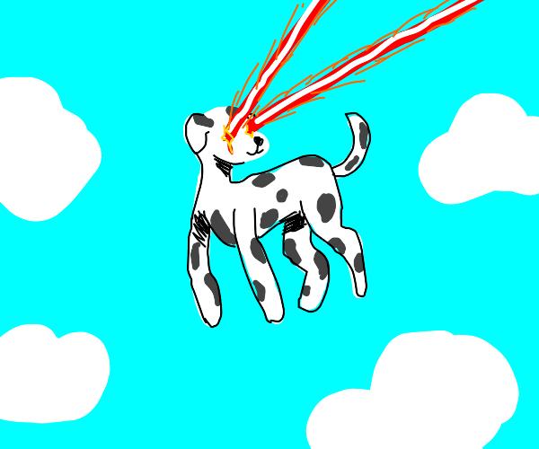sky dalmation shoots laser beams from eyes