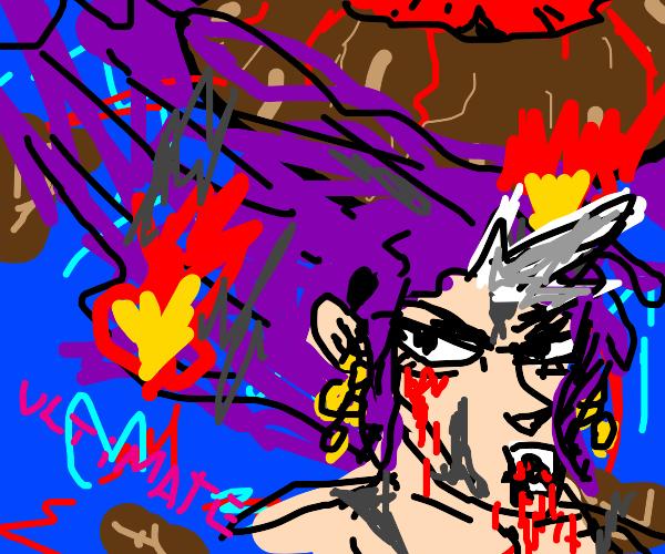 vampire flees a volcanic eruption