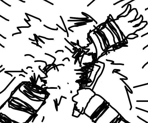 prisoner severing his own arm
