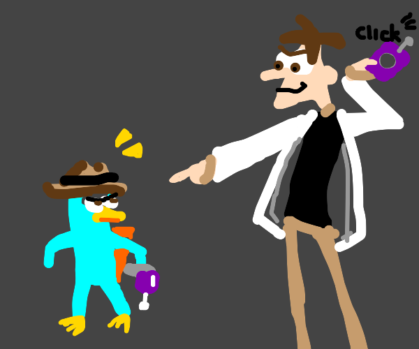 dr. doofenshmirtz and perry the platypus