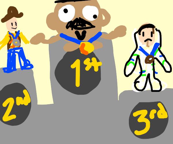 Mr. Potato Head won the olympics!