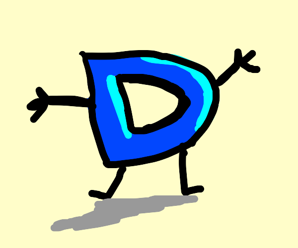 Drawception logo with limbs
