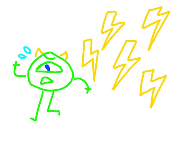 Mike wazowsi running from thunder