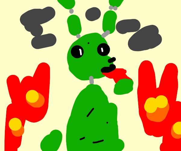 springtrap with an inhaler for his RoboAsthma