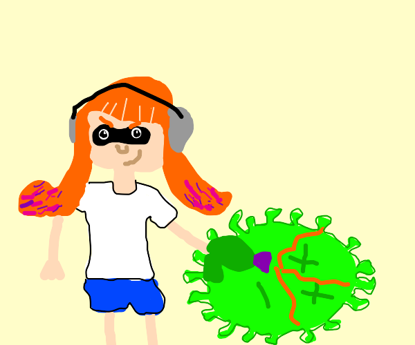 Splatoon squid kills corona virus