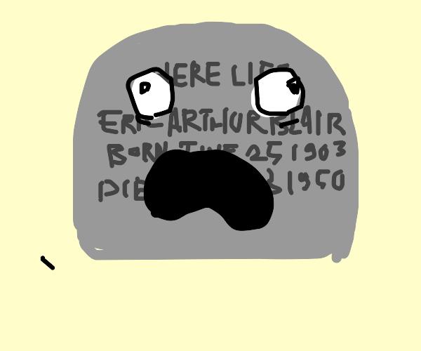 A grave comes alive