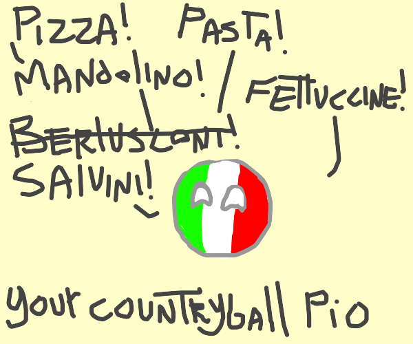 the country you live in as a Countryball pio
