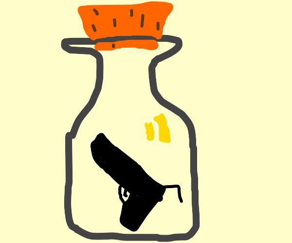 Gun in a bottle