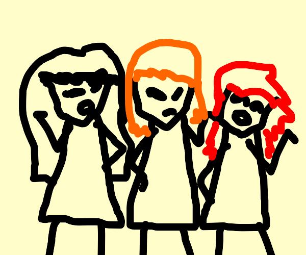 the three popular girls being salty