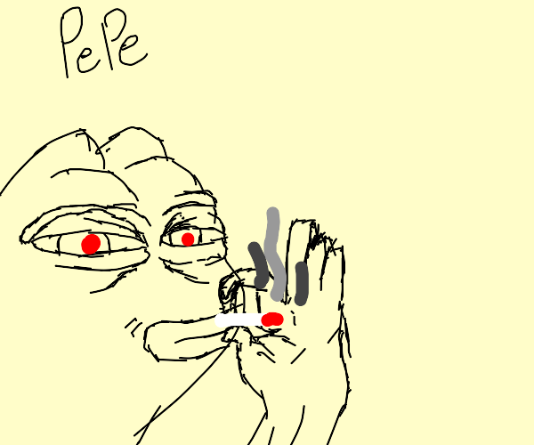 Pepe the Frog taking his medication