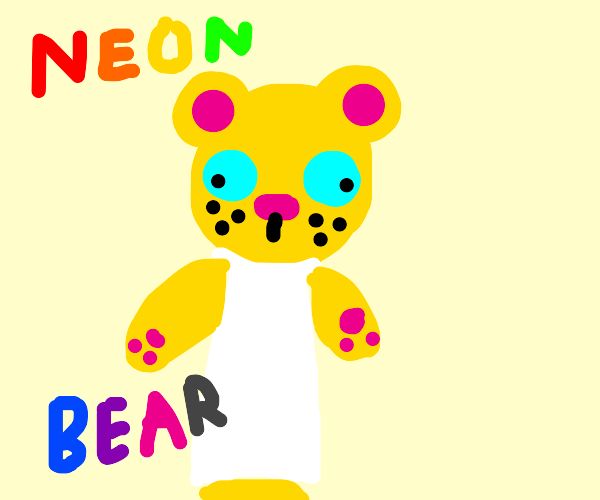 Neon apron bear