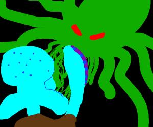 squidward summoning cthulhu