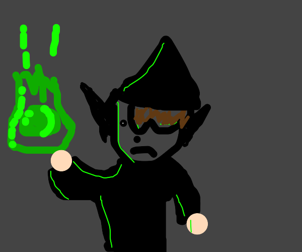 Dark Wizard with floating green orb