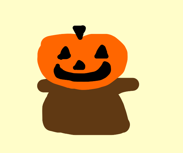 pumpkin on pedestal