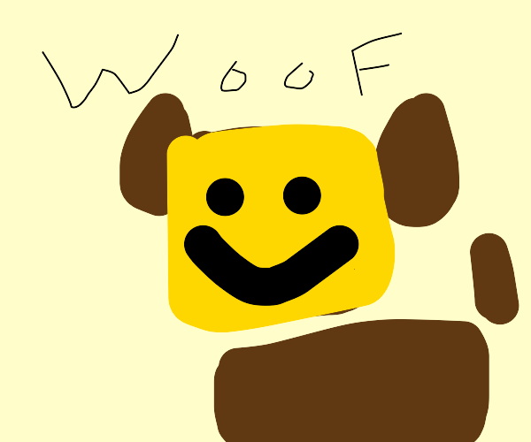 Cursed roblox dog