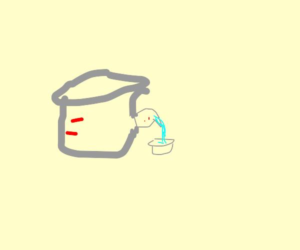 Beaker with a beaker