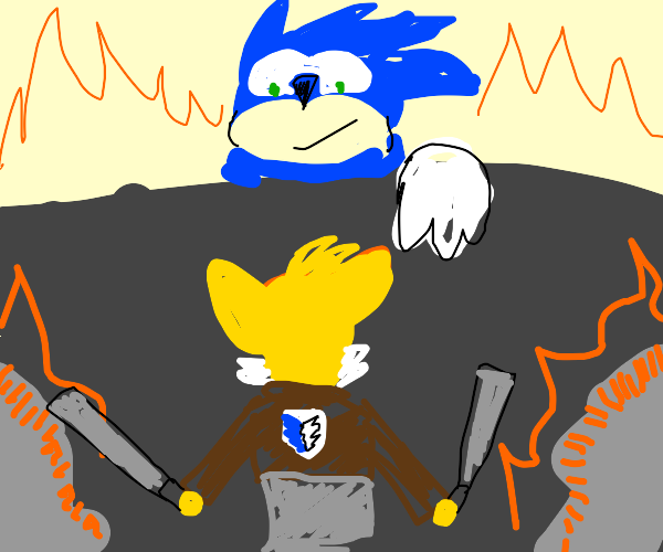 Attack on Titan but with Sonic and Tails