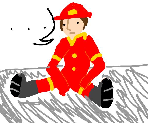 bored fireman