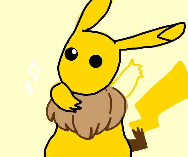 Pikachu with Eevee's main
