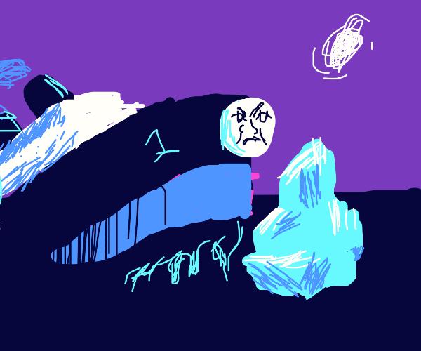 Thomas the Titanic tackles the Iceberg