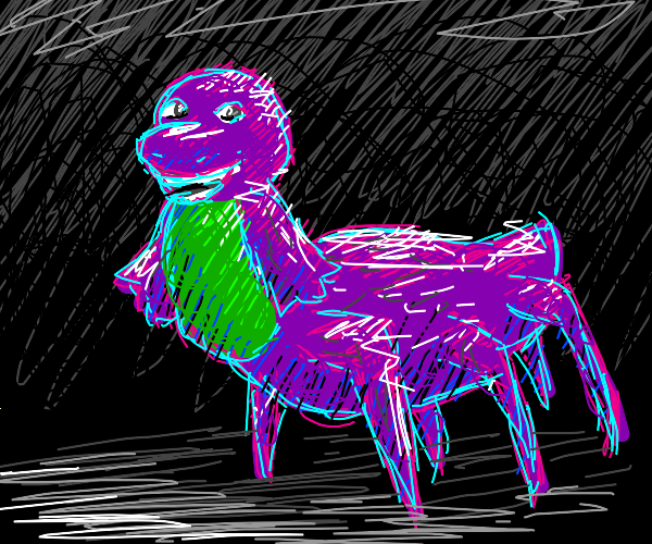 Barney the spider man