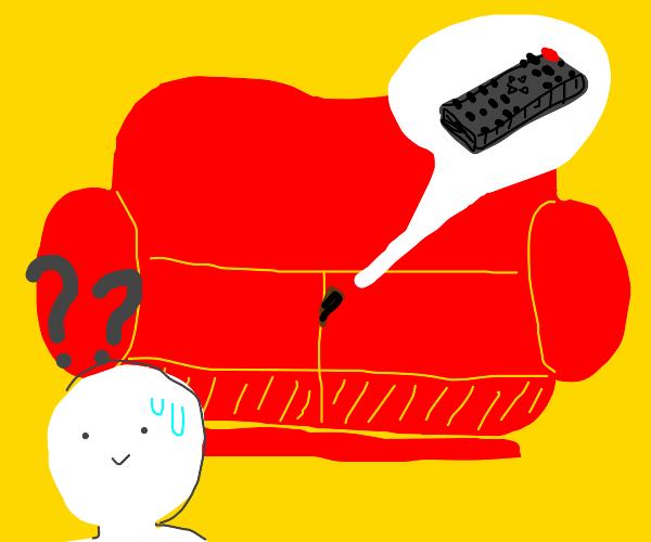 person lost their remote