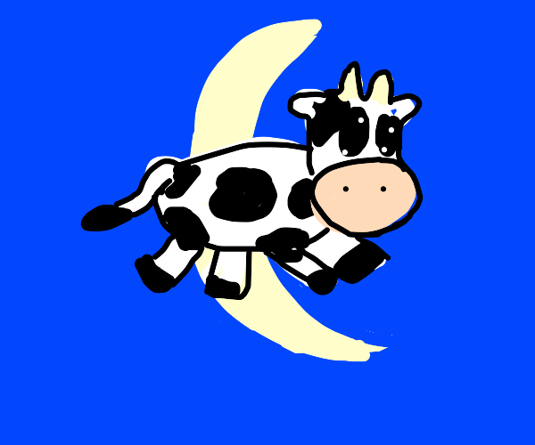 Cow jumps over crescent moon
