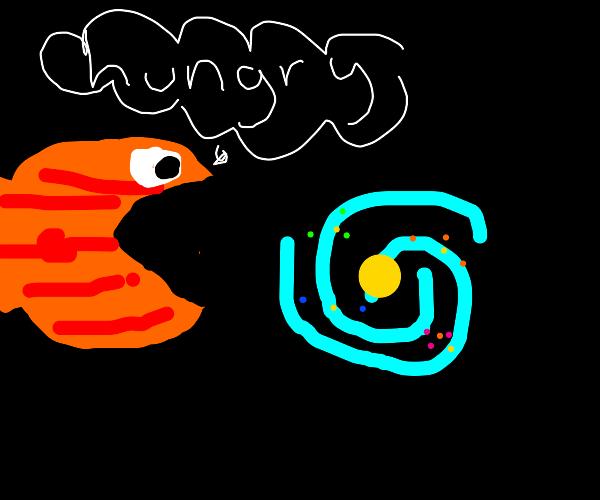 piranha planet eats galaxy