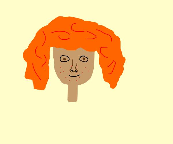 Red freckled girl
