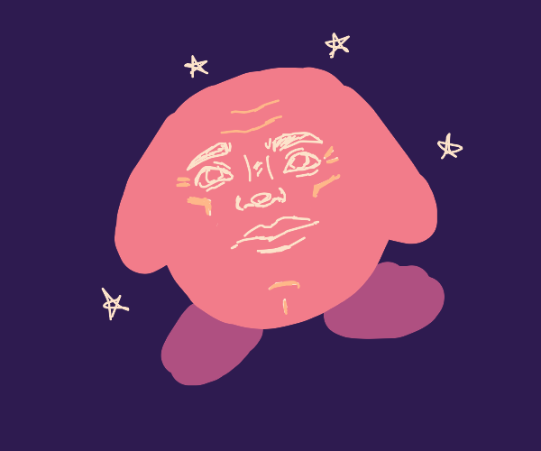 kirby with very realistic face