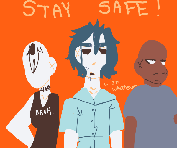 gorillaz tells you to stay safe during covid