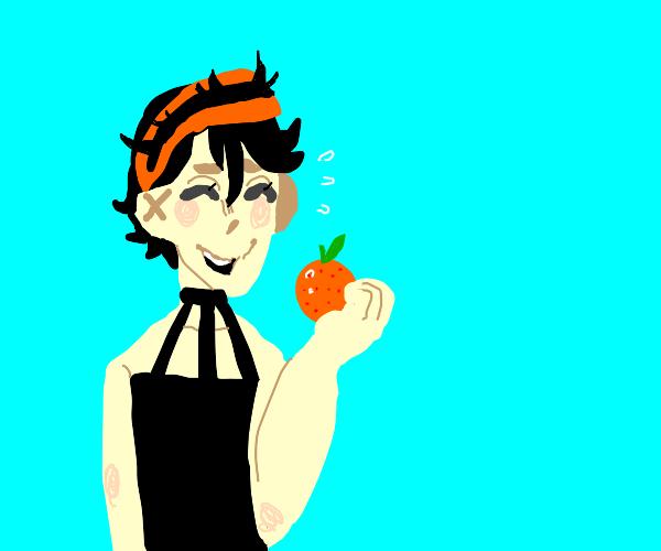 Narancia Eating An Orange