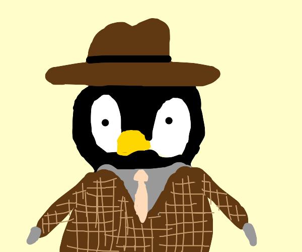 Dapper baby penguin