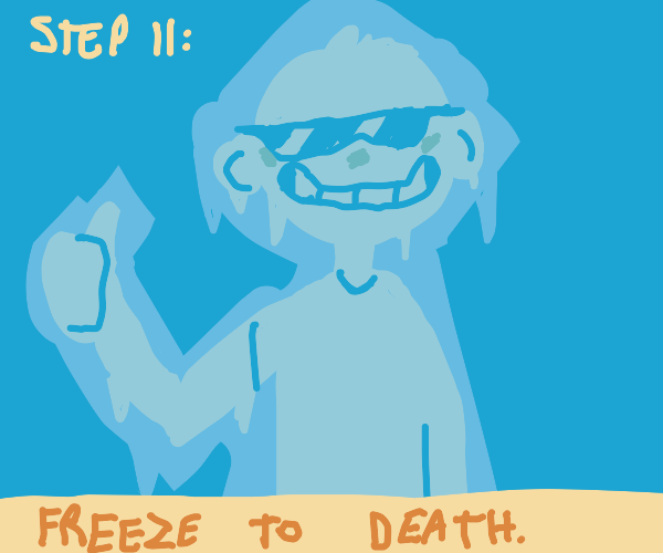 Step 10: Roleplay in the freezer