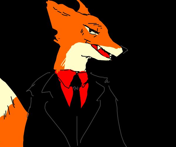sexy fox in a suit