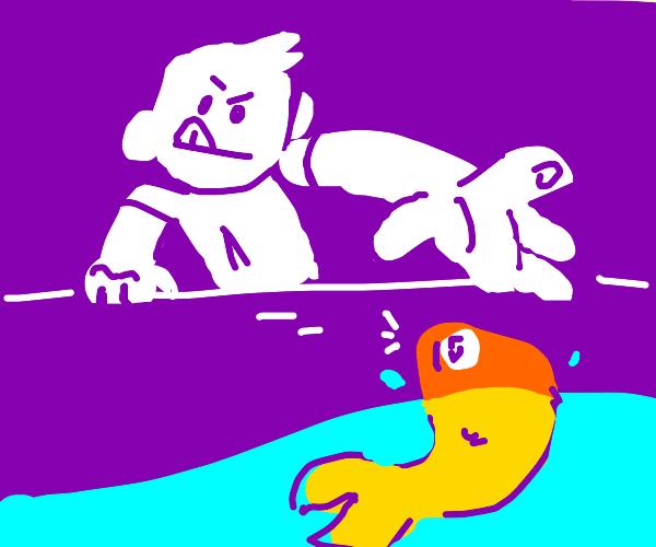 Grab the fish
