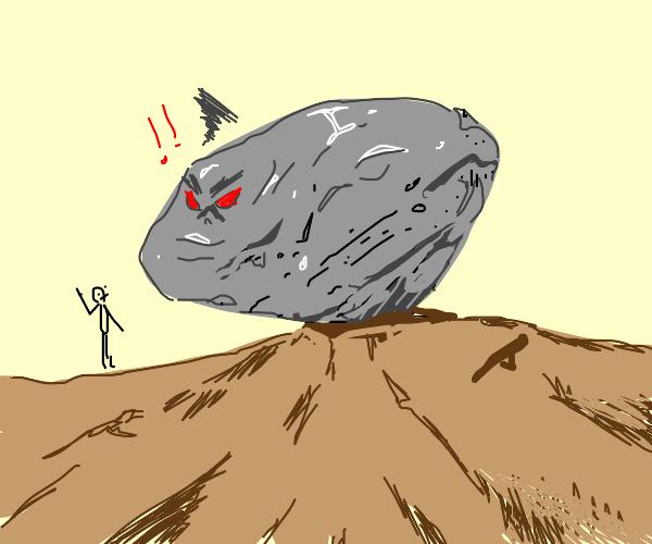 Rock angry