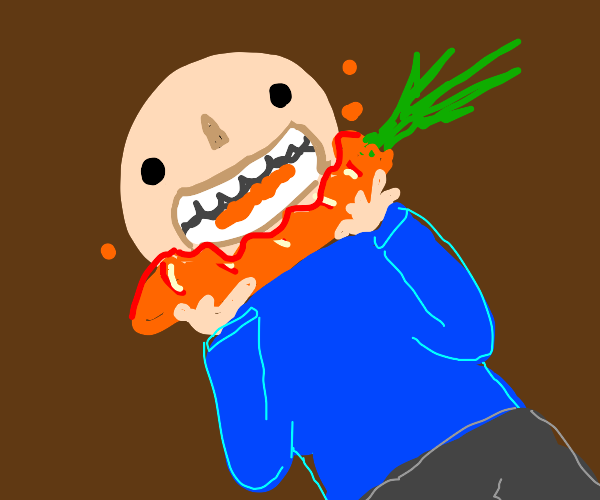 Inhumanely eating carrots